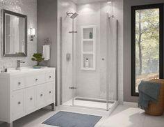 Athena 42 x 34 Corner Door and Base Shower Kit at Menards