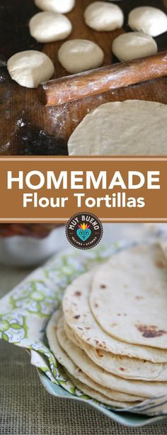 Homemade Flour Tortillas. This flour tortilla recipe is very easy, and if you've never tasted homemade flour tortillas before, you should really give this a try. When you compare these light and delicious tortillas to store-bought, there really is no comparison. My grandma made the best homemade flour tortillas. It was a way to nourish her family and continue a tradition.