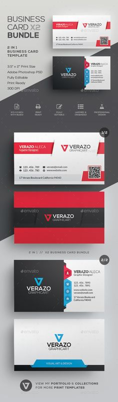 #Business #Card Bundle 34 - Corporate Business Cards Download here:  https://graphicriver.net/item/business-card-bundle-34/20022968?ref=alena994
