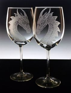 Dragon wine glasses