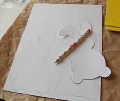 Ester Bunny Bunting tracing at The Happy Housie