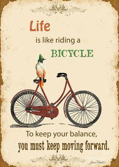 Life Typography-bicyle Digital Art  - Life Typography-bicyle Fine Art Print