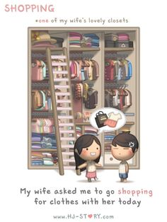 Check out the comic HJ-Story :: Shopping Hj Story, Cute Love Cartoons, Cute Cartoon, Cute Love Stories, Love Story, Love Is Sweet, What Is Love, Anime Chibi, Love Cartoon Couple