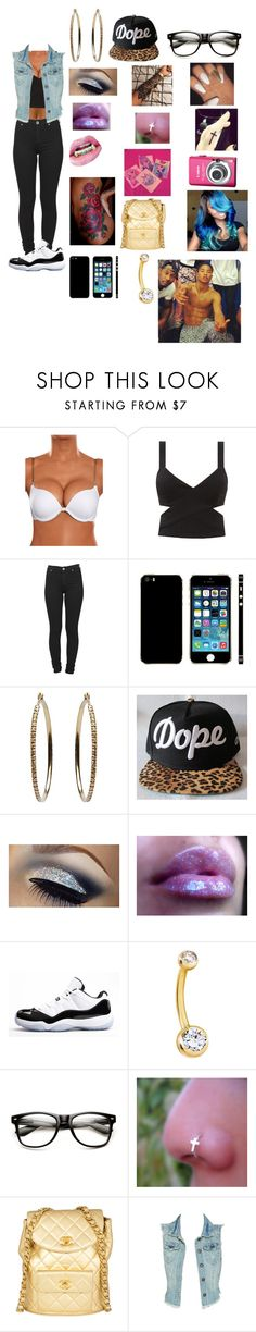 """""""dope nerd swag"""" by princessmissteambreezy19 ❤ liked on Polyvore featuring Dr. Denim, Ileana Makri, Concord, Chanel and Wet Seal"""