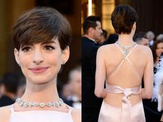 Glamour Overload at the Oscars! Anne Hathaway hair.