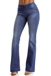 Denim Flared With Style Jeggings