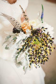Unique Bouquet - Berries & Feathers.