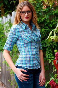 Plaid Button Down #May23Online #Faisca $26.00