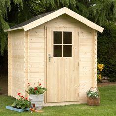 Abri de jardin en bois Edmonton NATERIAL, 2.36 m², ép. 12 mm ...