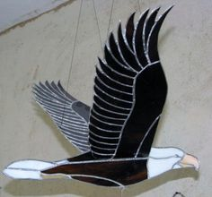 Stained glass Eagle - flying mobile 16 x 32 [EagleFlyingMobile] - $195.00 : Glass Moose Cart, handcrafted glass, beads/supplies, jewelry, wood & metal art, signs