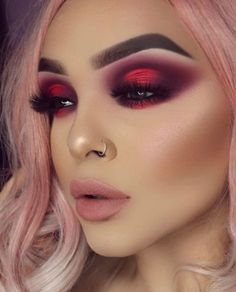 Valentine's Day Makeup Looks – a pretty idea for Valentines makeup or date night. Valentine's Day Makeup Looks – a pretty idea for Valentines makeup or date night. Makeup Goals, Makeup Inspo, Makeup Inspiration, Makeup Ideas, Makeup Set, Makeup Tricks, Makeup Tutorials, Makeup Quiz, Club Makeup
