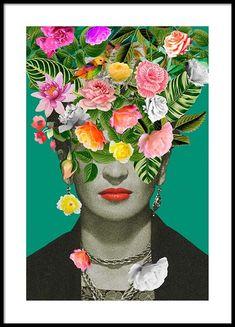 Frida Floral 1 Affiche dans le groupe Affiches / Formats / 50x70cm chez Desenio AB (3456)