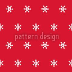 Snow Flakes White by Liljana Panjtar available for download on patterndesigns.com
