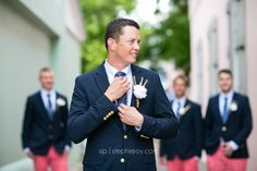 Stephie Joy Photography : Jacksonville and St. Augustine Florida Wedding and Lifestyle Photography » Jacksonville and St. Augustine Florida Wedding and Lifestyle Photography nautical country wedding attire groom. cotton boutonneire navy pink