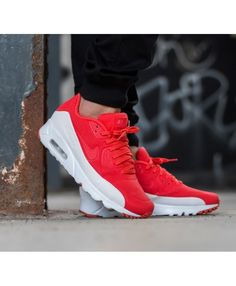 Nike Air Max 90 Ultra Moire Red White Trainers Mens Sale UK