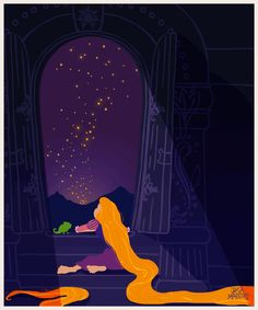 Rapunzel — Tangled | These Disney Poster GIFs Are Awesome