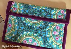 Quilt Inspiration: Free pattern day! iPad, Kindle, and iPhone cases and laptop bags