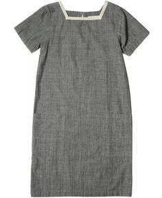 MARGARET HOWELL - MHL NAVAL DRESS - DRESSES - WOMEN
