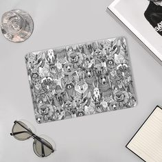 @casetify #canada #canadiananimals #sharonturner #illustration #sharonturner #goose #fox #wolf #bear #moose #hare #raccoon #skunk #cougar #pattern #tech #macbook Canadian Animals, Animals Black And White, Hare, Tech Accessories, How To Dry Basil, Casetify, Macbook, Moose, Wolf