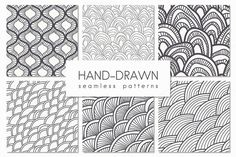 Hand-Drawn Seamless Patterns. Set 2 by Curly_Pat on Creative Market
