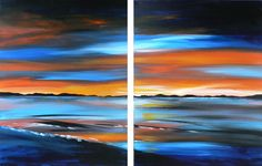 Dawn Of A New day: Seascape Paintings, Abstract, Modern and Contemporary Art, Home Decor Art: by Artist Megan Morris: http:www.paintingsforsaledirect.com, Facebook: www.facebook.com/MeganMorrisArt