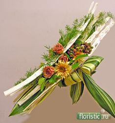 En blanc... www.floristic.ru - Флористика. Букеты на каркасах