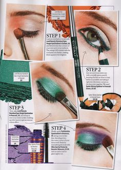 LOOK Magazine's colourful peacock eyes using LOOK Beauty! x