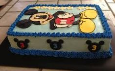 Cakes by Mindy: Mickey Mouse Cake x Mickey Mouse Clubhouse Cake, Mickey Mouse Birthday Cake, Mickey Mouse Baby Shower, Baby Mouse, Baby Shower Sheet Cakes, Mickey Mouse Images, Birthday Sheet Cakes, 3rd Birthday, Birthday Ideas