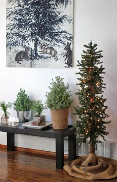 simple, natural Christmas trees