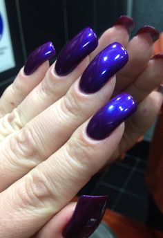 Classy Acrylic Nails, Purple Acrylic Nails, Purple Manicure, Pink Nails, Sexy Nails, Nails On Fleek, Perfect Nails, Gorgeous Nails, Flare Nails