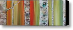 Birch Trees Stretched Canvas Print / Canvas Art By Helen Bennett