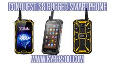 Conquest S8 Rugged Smartphone - If you need a phone that can perform anywhere then the Conquest S8 2017 edition is up to the challenge. With it's hardened rubber exterior this shockproof phone can survival knocks and drops. A waterproof and dustproof IP68 rating ensures its protected from dirt and liquid ingress so it can even survive being submerged in water. https://kyberzoo.com/shop/smart-phones-kyberzoo/conquest-s8-2017-edition-6-yellow-rugged-smartphone-smart-phones-kyberzoo/   #New…