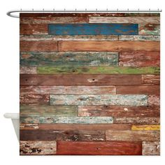 Old Painted Distressed Plank Wood Shower Curtain by Pick-Your-Perfect Originals - CafePress Wood Plank Walls, Rustic Wood Walls, Wood Planks, Barn Wood, Pine Walls, Custom Shower Curtains, Fabric Shower Curtains, Ship Lap Walls, Wood Pallets