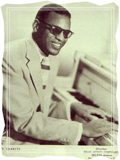 Singer and pianist Ray Charles poses for a portrait in 1959 in New York City New York Ray Charles, Charles James, Soul Artists, Music Artists, Thing 1, Ella Fitzgerald, Rhythm And Blues, Stevie Wonder, Greatest Hits