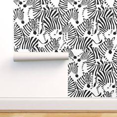 Abstract Zebra Wallpaper - Zebra Black And White by heleen_vd_thillart - Animal Print Black And White Wallpaper Roll by Spoonflower - Etsy - Beyond Binary Zebra Wallpaper, Animal Print Wallpaper, Custom Wallpaper, Wallpaper Roll, Peel And Stick Wallpaper, Animal Print Rug, Zebra Print Walls, Black And White Wallpaper, Perfect Wallpaper