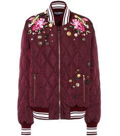 Dolce & Gabbana - Вышитая куртка бомбардировщика | mytheresa.com