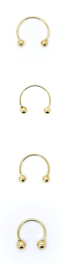 Body Piercing Jewelry 32050: 14 K Yellow Gold Circular Horseshoe Barbell In 20 And 22 Gauge/Assorted Diameter -> BUY IT NOW ONLY: $32.75 on eBay!
