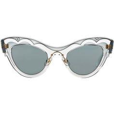 Miu Miu MU 07PS 49 Sunglasses featuring polyvore, fashion, accessories, eyewear, sunglasses, glasses, hats, sunnies, plastic glasses, cat eye glasses, miu miu, miu miu glasses and lens glasses #miumiusunglasses #miumiuglasses