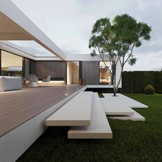 A decent and elegant architecture. Share your thoughts. __ Architecture by Architecture Design Concept, Modern Japanese Architecture, Ancient Architecture, Minimalist Architecture, Amazing Architecture, Tropical Architecture, Japanese Modern, Japanese House, Sustainable Architecture