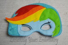 Blue Rainbow Pony Girl, Little Pony Girl themed mask - pinned by pin4etsy.com