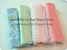 Simple Reversible Car Seat Strap Cover (could be used for a baby car seat or regular seat straps)