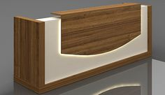 Reception Desk : Buy Best Reception Counter from Highmoon Furniture Office Counter Design, Reception Counter Design, Office Reception Design, Modern Reception Desk, Office Table Design, Office Furniture Design, Showroom Interior Design, Modern Interior, Living Room Partition Design