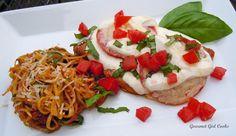 Gourmet Girl Cooks: Caprese Style Chicken Cutlets & Zucchini-Squash Pasta w/ Sun-dried Tomato Pesto