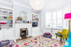 Casinha colorida: Uma linda, luminosa e colorida casinha