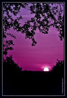 a purple sunset, now that is what I'm talkin' about!