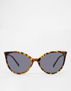 aeb7a91cae20a Image 2 of ASOS Fine Frame Cat Eye Sunglasses Quatro