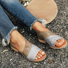 dcabc8689 Women Daily Low Heel Panel Sandals - gifthershoes Fix Clothing
