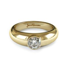 DIAMOND OF THE WEEK #JensHansenDiamonds DAZZLING BEZEL We love the smooth Bezel setting around here. This Classic Jens Hansen setting holds firm a stunning .75ct carat Round Brilliant Cut diamond in 18ct Yellow Gold.