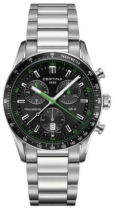 6eb41c515e Certina DS 2 Chrono Certina DS 2 Chrono Quartz Precidrive Date Black  Leather Watch  (Men Watch)