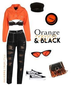 """""""OrangeDay"""" by guerreiroritaa on Polyvore featuring Maison Close, Heron Preston, Vans, Tommy Hilfiger, M&Co and J.W. Anderson Nyfw Street Style, Heron, Preston, Polyvore Fashion, Tommy Hilfiger, Vans, Orange, Outfits, Black"""